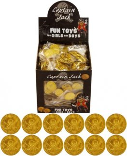 Gold Pirate Coins x84