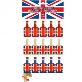 Union Jack Party Poppers 15pk