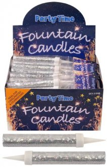Silver Ice Fountain Sparklers 2pc