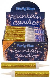 Gold Ice Fountain Sparklers 2pc