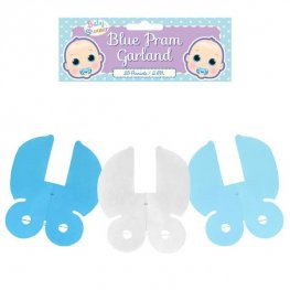 Blue Pram Decoration Garland