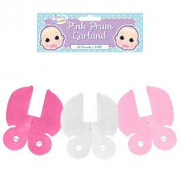 Pink Pram Decoration Garland