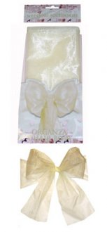 Ivory Wedding Organza Chair Bow
