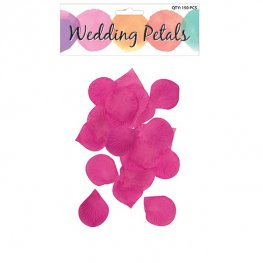 Hot Pink Rose Petals 150pc