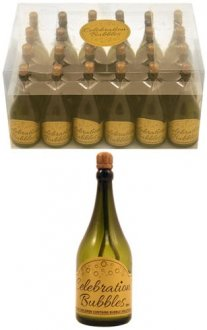 Green Champagne Bottle Bubbles x2 Dozen