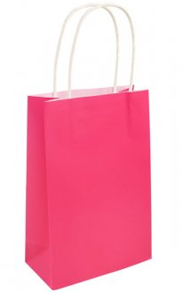 Hot Pink Paper Gift Bags