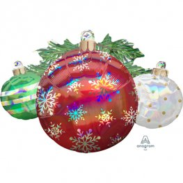 Iridescent Ornaments Supershape Balloons