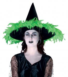 Witches Hat With Feathers