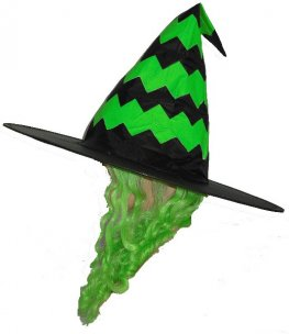 Hat Zig Zag With Green Hair