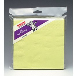 Light Yellow Napkins 6 Packs Of 20