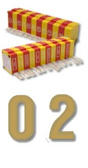 Gold Sticky Label Numeral Dispenser 0-9