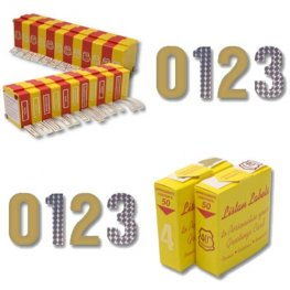 Gold And Holographic Numeral 0-9 Blister Packs x50