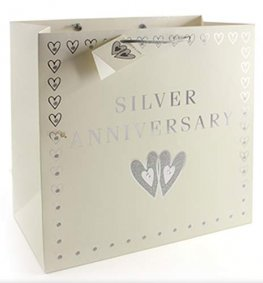 Silver Anniversary Large Gift Bags
