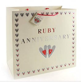 Ruby Anniversary Large Gift Bags