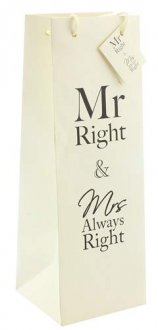 Mr Right And Mrs Always Right Bottle Gift Bag