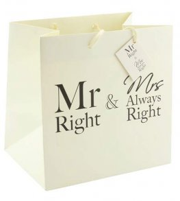 Mr Right And Mrs Always Right Medium Gift Bag