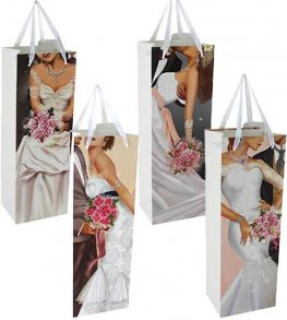 Wedding Themed Bottle Gift Bag x1