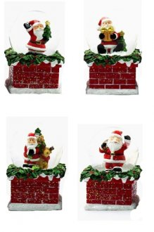 Christmas Santa 10cm Waterball 1pc