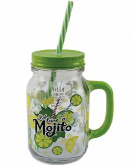 Mojito Drinking Jar Glass
