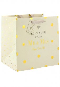 Hugs & Kisses To The New Mr And Mrs Medium Gift Bag