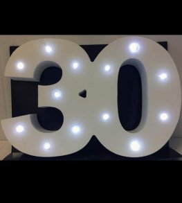 LED Light Up Number 30