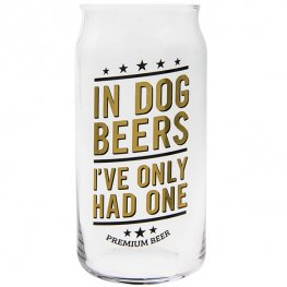 In Dog Beers Beer Glass