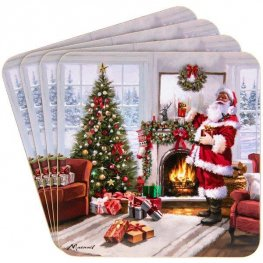 Christmas Santa Coaster Sets