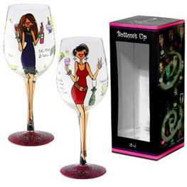 Women Wining Wine Glass
