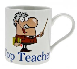 Male Top Teacher Mug