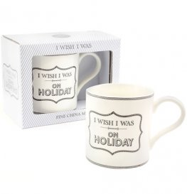 Wish I Was On Holiday Mug
