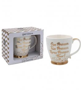 One Prosecco Two Prosecco China Mug