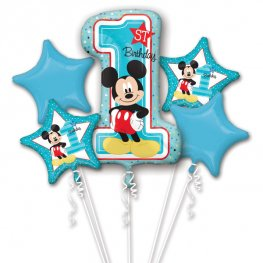 Mickey Mouse 1st Birthday Balloons Bouquet