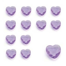 Lilac Heart Shaped Diamantes