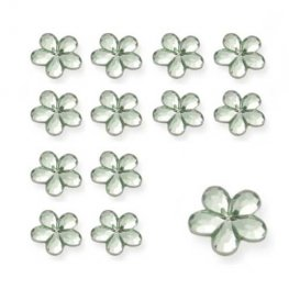 Apple Green Flower Shaped Diamantes