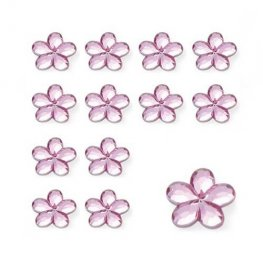 Pink Flower Shaped Diamantes
