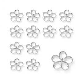 Silver Flower Shaped Diamantes
