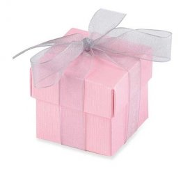 Pink Favour Box With Lid x10