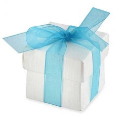White Favour Box With Lid x10