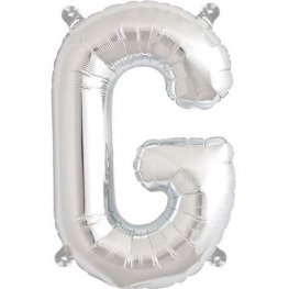 "16"" G Letter Silver Air Filled Balloon"