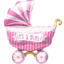 Its A Girl Buggy Supershape Balloons
