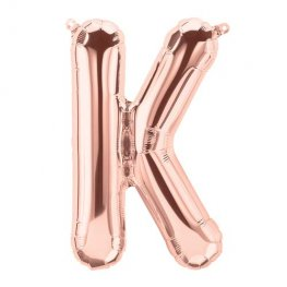 "16"" Rose Gold Letter K Air Filled Balloons"