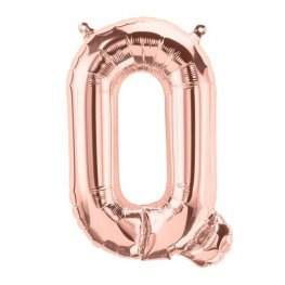 "16"" Rose Gold Letter Q Air Filled Balloons"