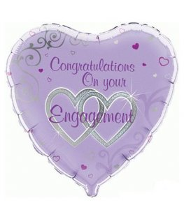 "18"" Congratulations On Your Engagement Foil Balloons"