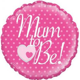 "18"" Pink Mum To Be Foil Balloons"