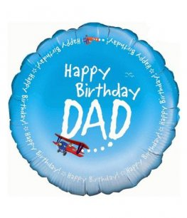 "18"" Happy Birthday Dad Foil Balloons"