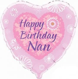 "18"" Happy Birthday Nan Foil Balloons"