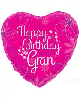 "18"" Happy Birthday Gran Foil Balloons"