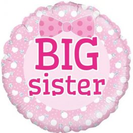 "18"" Pink Big Sister Foil Balloons"