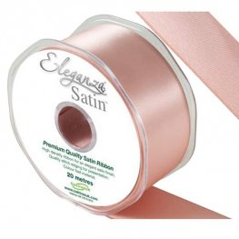 Rose Gold Double Faced Satin Ribbon 38mm x 20m