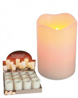 Wax LED Candle With Blow Out Feature.